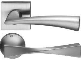 DND Satin Chrome Lever on Rose