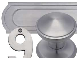 Satin Chrome Front Door Furniture