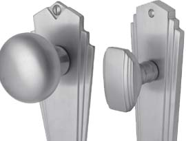 Satin Chrome Mortice Knob on Plate