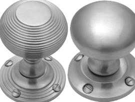 Satin Chrome Mortice Door Knobs
