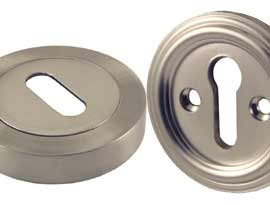 Satin Nickel Finish Escutcheons