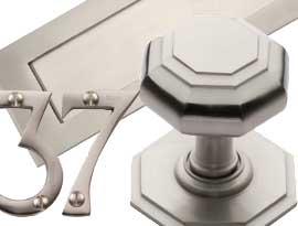 Satin Nickel Finish Front Door Fittings