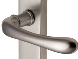 Satin Nickel Finish Lever Handles