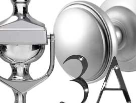 Chrome Silver & Satin UPVC and Multipoint Front Door Accessories