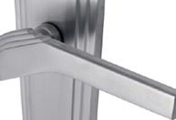 SATIN Chrome Lever Door Handles