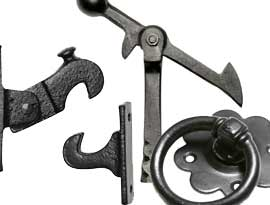 Black Iron Door & Gate Furniture