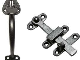 Black Iron Thumb Latches