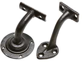 Black Iron Handrail Brackets