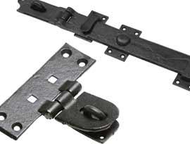Black Iron Locking Bars & Hasps