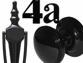 Smooth Black UPVC and Multipoint Front Door Accessories