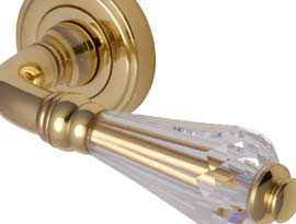 Lever Handles with Swarovski Elements