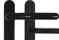 Smooth Black UPVC and Multipoint Door Handles