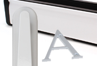 White UPVC and Multipoint Front Door Accessories