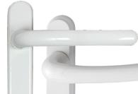 White UPVC and Multipoint Door Handles