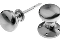 Pewter Finish Mortice and Rim Door Knobs