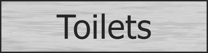 Stainless Effect Door Sign Toilets