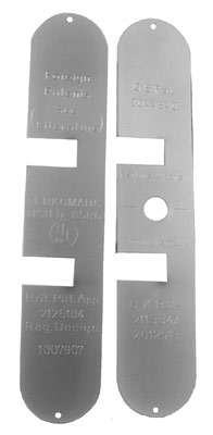 Image of Matt Chrome End Plate Set for Perkomatic Door Closer