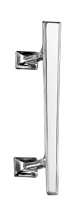 Art Deco Design Polished Chrome Door Pull Handle Right Handed 190mm