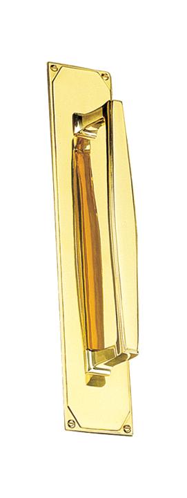Art Deco Design Door Pull Handle On Backplate 305x63mm