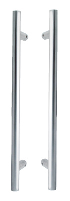 Image of Grade 316 Stainless Steel 19x300 Back to Back Pull Handles in Pairs