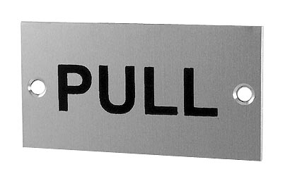 Image of Satin Anodised Plaque PULL