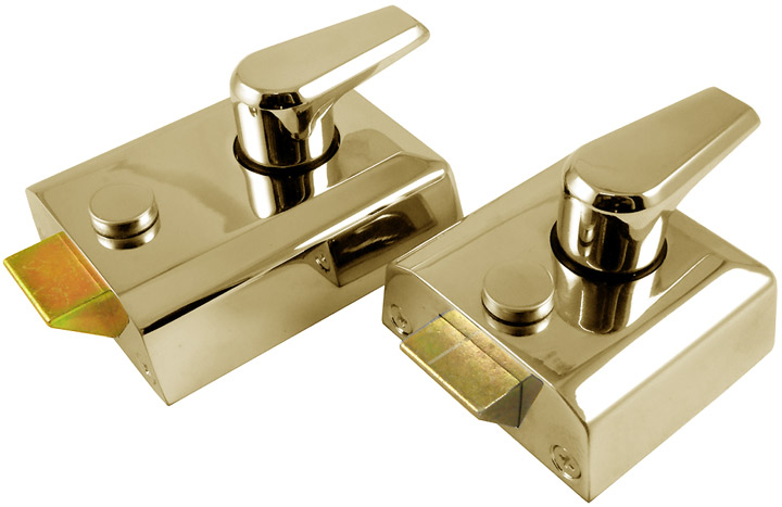 M Marcus Brass Security Nightlatch and Cylinder