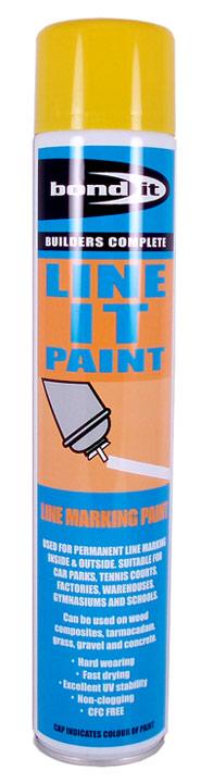 Linemarker Paint Spray Yellow 750ml