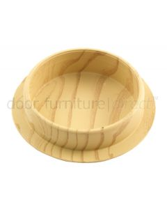 Light Wood Grain Non Slip Castor Cup 44mm Set of 4