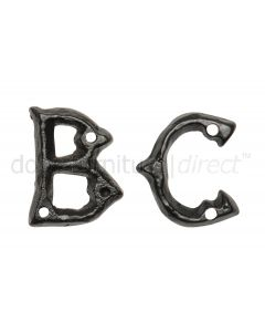Black Antique Iron 45mm Letters A to Z 1976