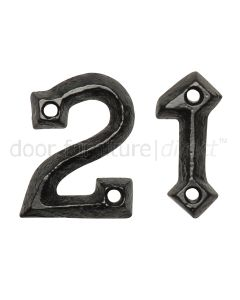 Black Antique Iron 45mm Numbers 0 to 9 1976