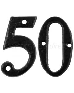 Black Antique Iron Numerals 50mm 0 to 9 1979