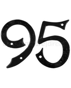 Black Antique Iron 101mm (4in) Numbers 0 to 9 1979