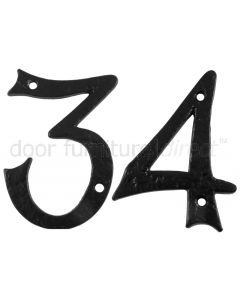 Black Antique Iron 152mm (6in)  Numbers 0 to 9 1979