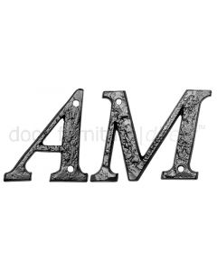 Black Antique Iron 76mm Letters A to Z 1979