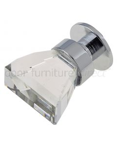 Swarovski Triangular Crystal Cabinet Knob 16x28mm