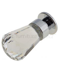 Swarovski Crystal Fluted Cabinet Knob 14x35mm