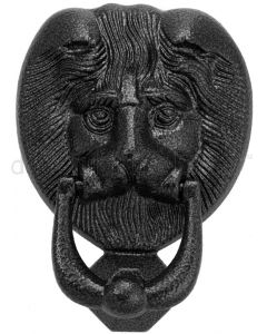 Fab and Fix Antique Black Lion Head Door Knocker