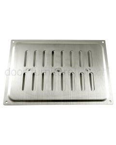 Brushed Stainless Steel Adjustable Vent upto 210x152mm Openings