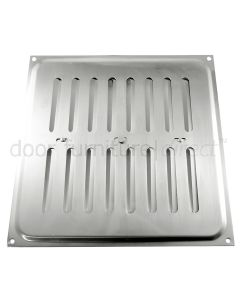 Brushed Stainless Steel Adjustable Vent upto 210x229mm Openings