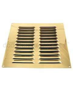 Brassed Louvre Vent upto 229x229mm Openings