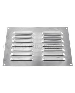 Brushed Stainless Steel Louvre Vent upto 229x152mm Openings
