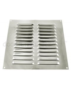 Brushed Stainless Steel Louvre Vent upto 229x229mm Openings