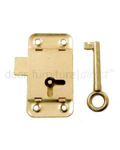 Wardrobe Lock Electro Brassed 63mm