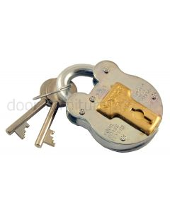 38mm Galvanised Old English Padlock 4 Lever