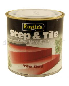 Rustins Red Step and Tile Paint 250ml