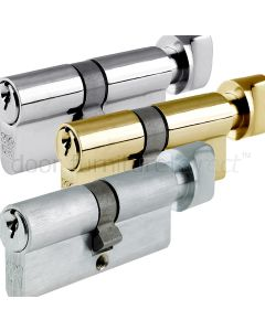 Key And Turn Euro Profile Cylinder 5 Pin Keyed to Differ