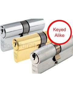Double Euro Profile Cylinder 5 Pin Keyed Alike