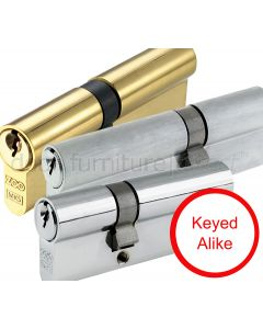 Double Euro Profile Offset Cylinders 5 Pin Keyed Alike