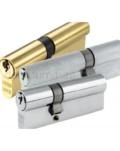 Double Euro Profile Offset Cylinders 5 Pin Keyed to Differ