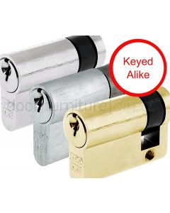 Single Euro Profile Cylinder 5 Pin Keyed Alike